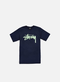Stussy - Stock T-shirt, Navy/Mint 1