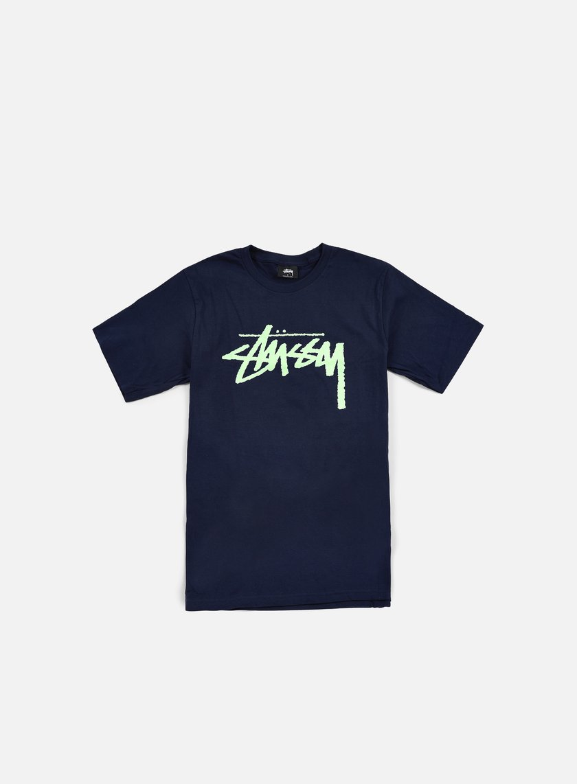 Stussy - Stock T-shirt, Navy/Mint