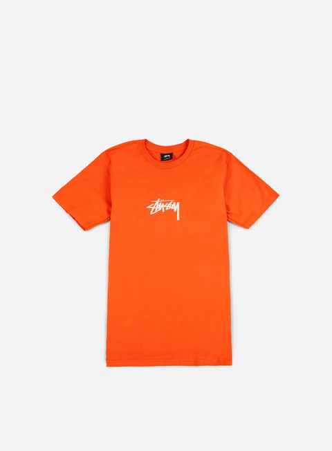 t shirt stussy stock t shirt orange white