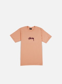 Stussy - Stock T-shirt, Pale Salmon/Purple