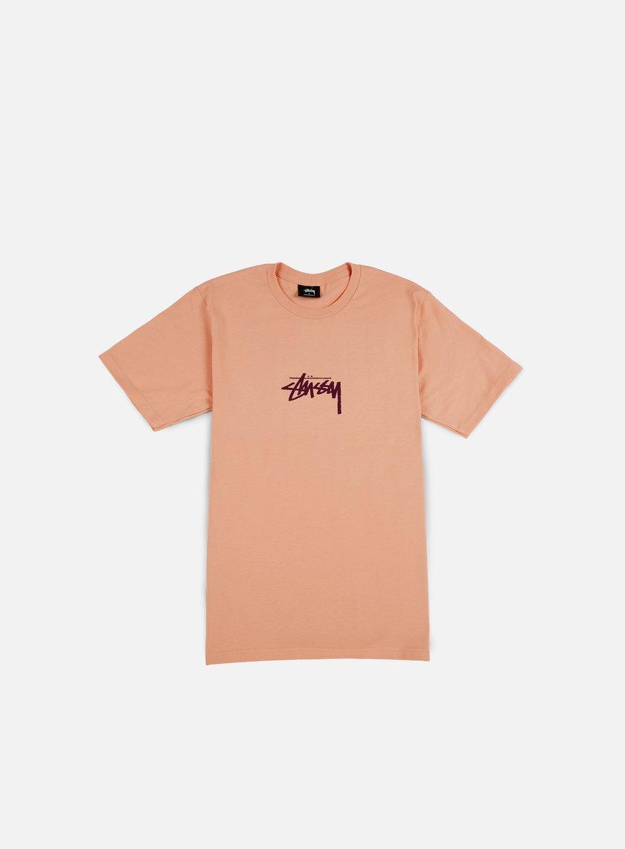 Stussy - Stock T-shirt, Pale Salmon/Purple