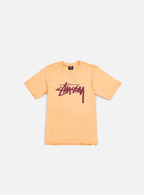 t shirt stussy stock t shirt peach daark red