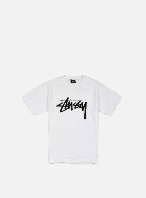 t shirt stussy stock t shirt white black