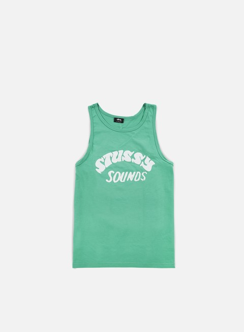 t shirt stussy stussy sounds tank green