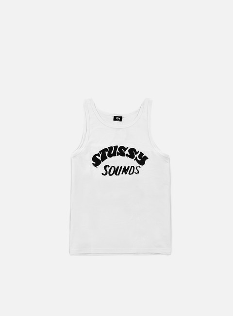 t shirt stussy stussy sounds tank white