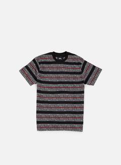 Stussy - Stussy Stripe Jacquard T-shirt, Black 1