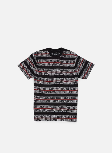 t shirt stussy stussy stripe jacquard t shirt black