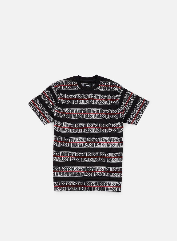 Stussy - Stussy Stripe Jacquard T-shirt, Black