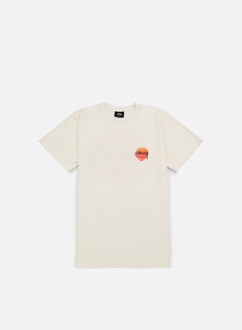 t shirt stussy sunset dot pigment dyed t shirt natural