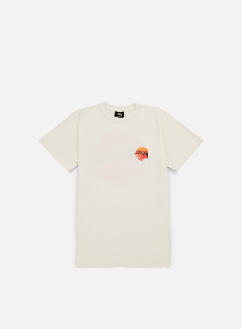 Stussy - Sunset Dot Pigment Dyed T-shirt, Natural