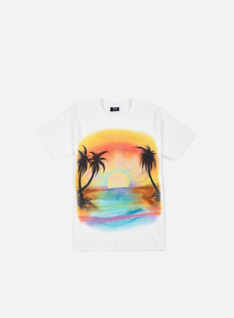 t shirt stussy sunset t shirt white