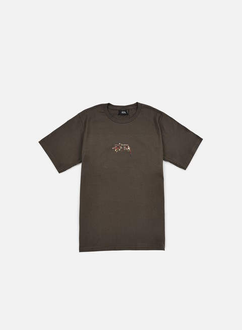 t shirt stussy tribal lion t shirt charcoal