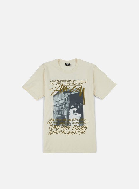 t shirt stussy tribe of stussy t shirt natural