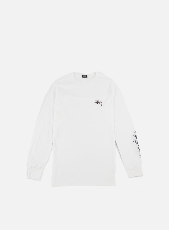 Stussy - Wave Dragon LS T-shirt, White
