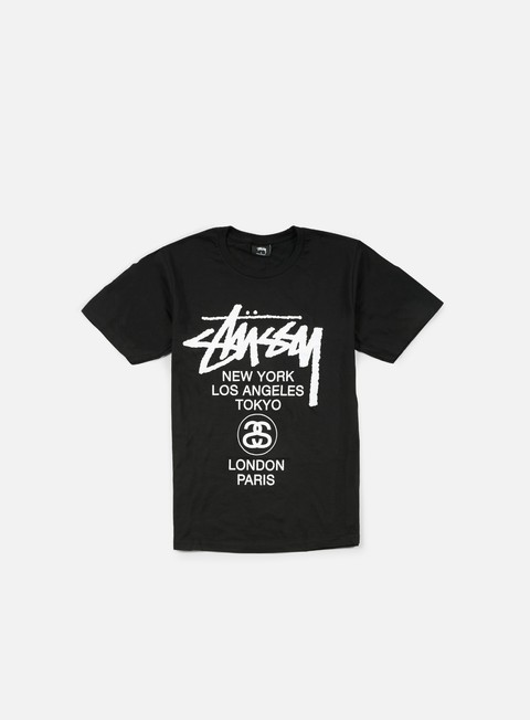 t shirt stussy world tour t shirt black