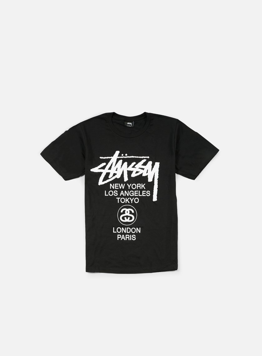 Stussy - World Tour T-shirt, Black