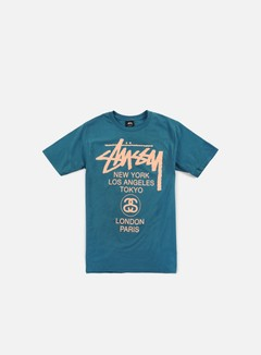 Stussy - World Tour T-shirt, Blue