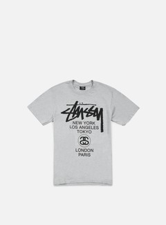 Stussy - World Tour T-shirt, Grey Heather