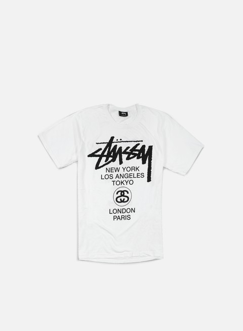 t shirt stussy world tour t shirt white