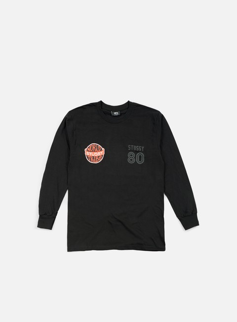 t shirt stussy wst 80 ls t shirt black