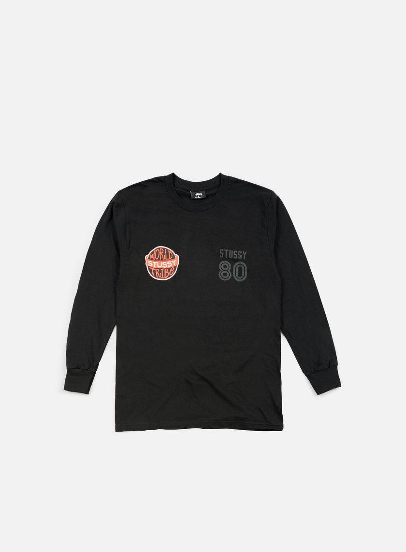 Stussy - WST 80 LS T-shirt, Black