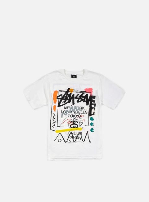 t shirt stussy wt doodle t shirt white