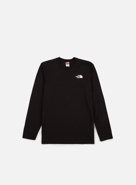 t shirt the north face easy ls t shirt tnf black