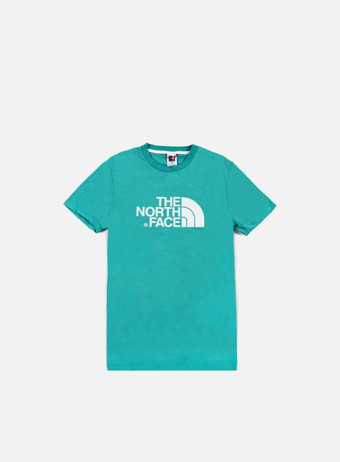 t shirt the north face easy t shirt teal blue