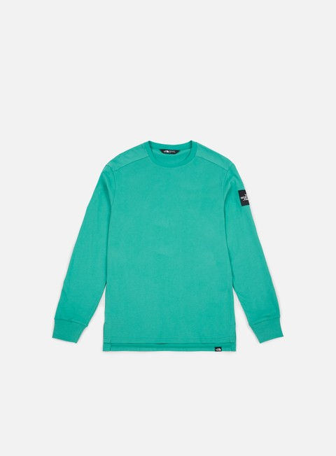 t shirt the north face fine 2 ls t shirt porcelain green