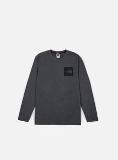 The North Face - Fine LS T-shirt, Dark Grey Heather 1
