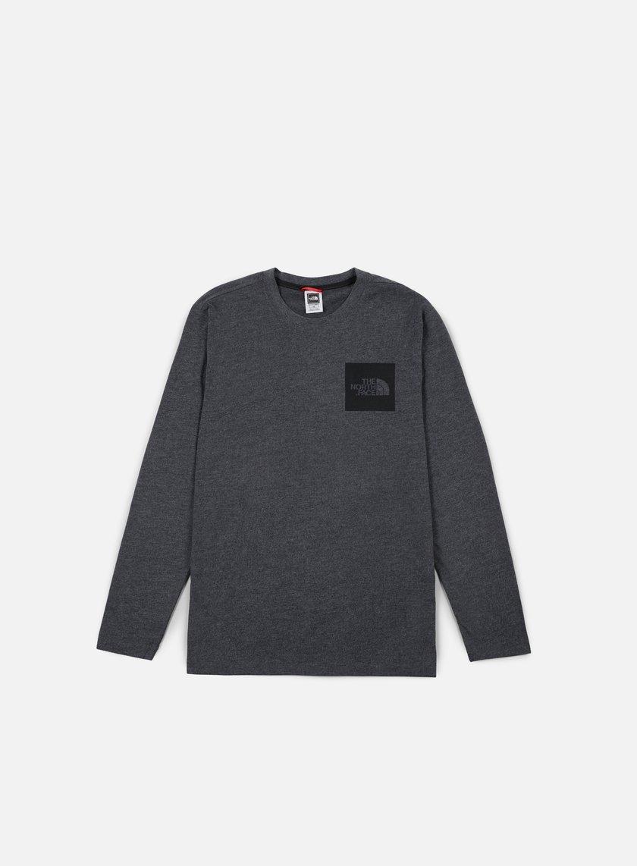 The North Face - Fine LS T-shirt, Dark Grey Heather