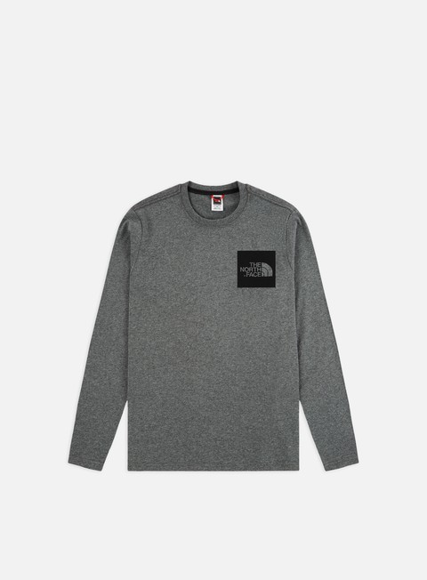 t shirt the north face fine ls t shirt medium grey heather