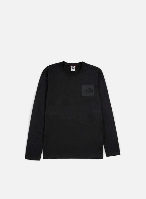 t shirt the north face fine ls t shirt tnf black