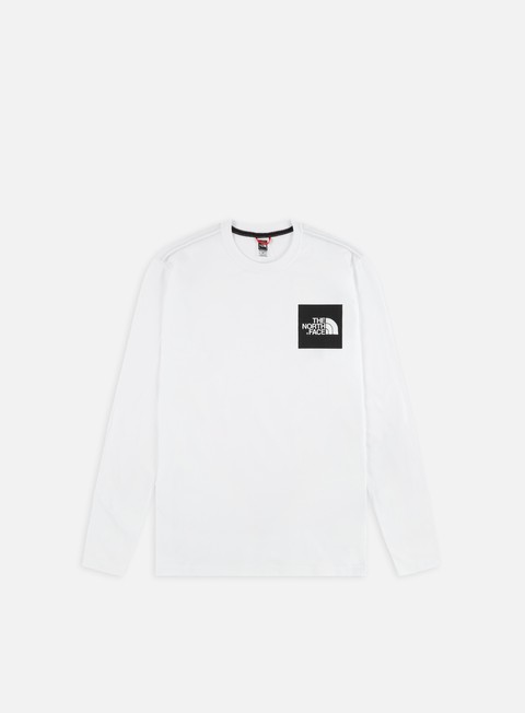 t shirt the north face fine ls t shirt tnf white