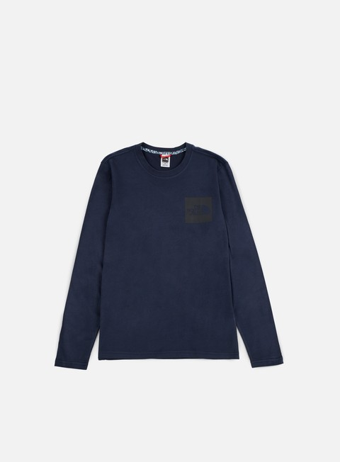 t shirt the north face fine ls t shirt urban navy