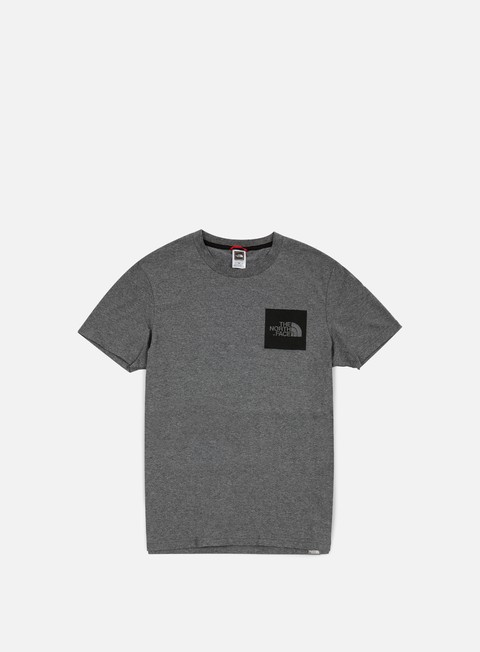 t shirt the north face fine t shirt melange grey heather
