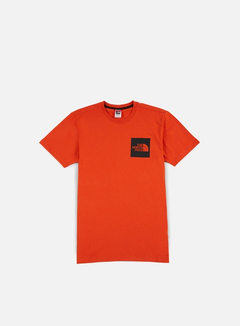 t shirt the north face fine t shirt tibetan orange