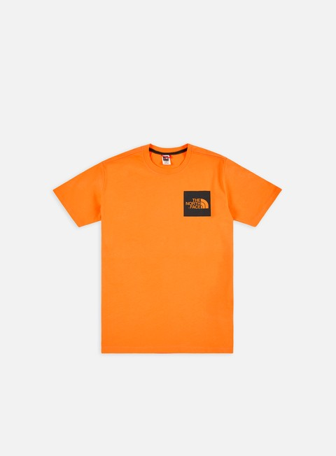 t shirt the north face fine t shirt zinnia orange