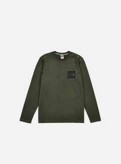 The North Face - Long Sleeve Fine Pocket T-shirt, Rosin Green 1