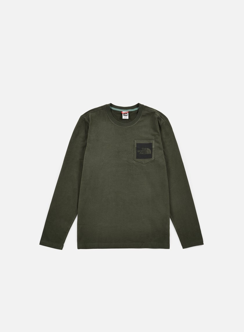 The North Face - Long Sleeve Fine Pocket T-shirt, Rosin Green