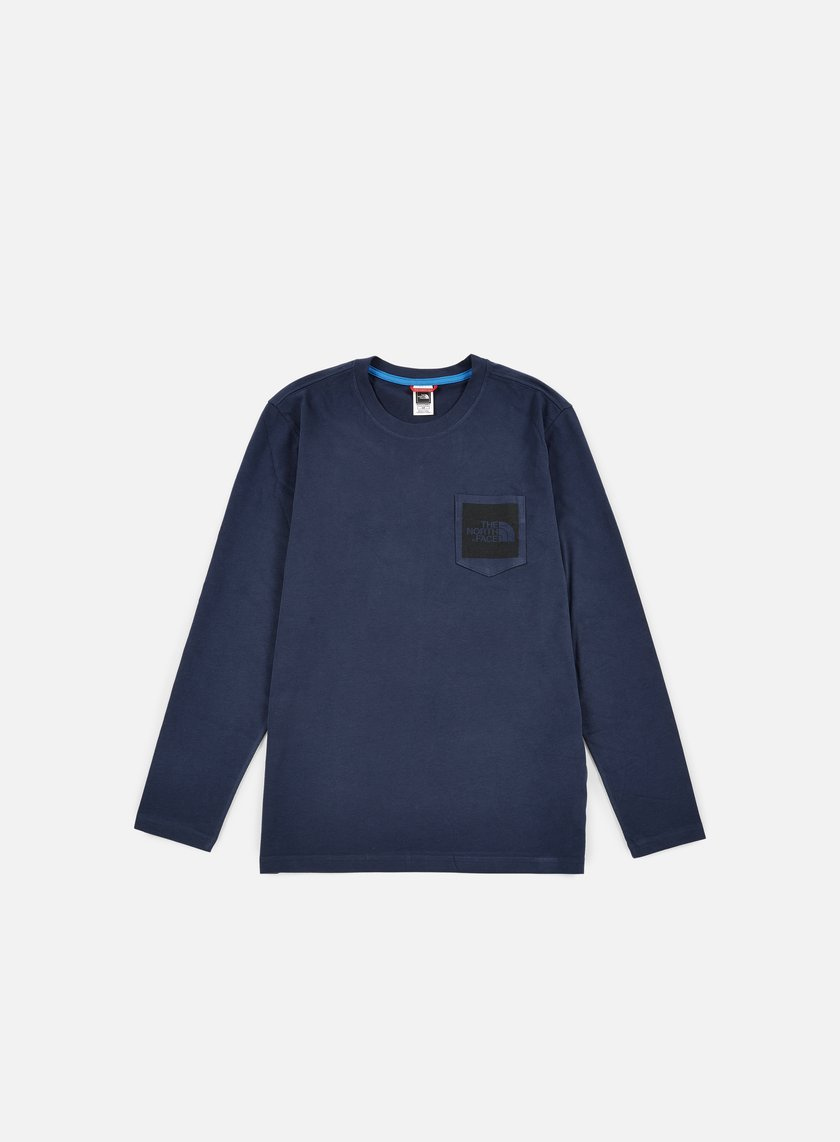 The North Face - Long Sleeve Fine Pocket T-shirt, Urban Navy