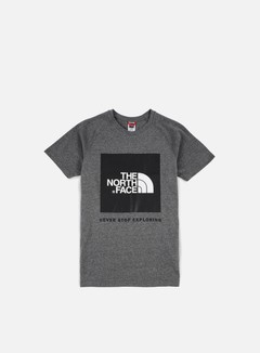 The North Face - Raglan Red Box T-shirt, Medium Grey Heather 1