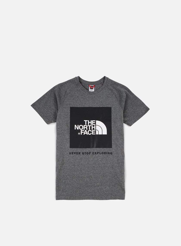 The North Face - Raglan Red Box T-shirt, Medium Grey Heather