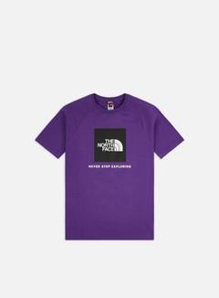 The North Face - Raglan Red Box T-shirt, Peak Purple