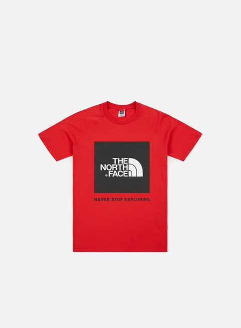 Sale Outlet Short Sleeve T-shirts The North Face Raglan Red Box T-shirt