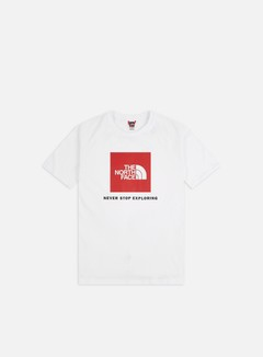 The North Face - Raglan Red Box T-shirt, TNF White/TNF Red