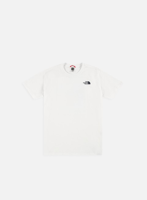 t shirt the north face red box cel t shirt tnf white urban navy