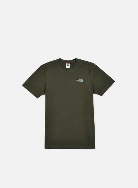 t shirt the north face red box t shirt rosin green