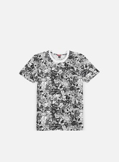 The North Face - Simple Dome T-Shirt, TNF White Sticker Bomb Print