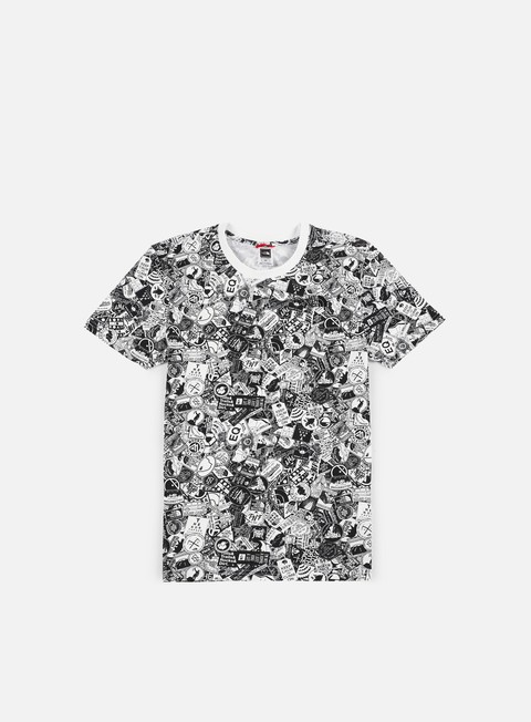 t shirt the north face simple dome t shirt tnf white sticker bomb print